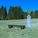 Panenka Marie poblíž chaty Alma na modré turistické