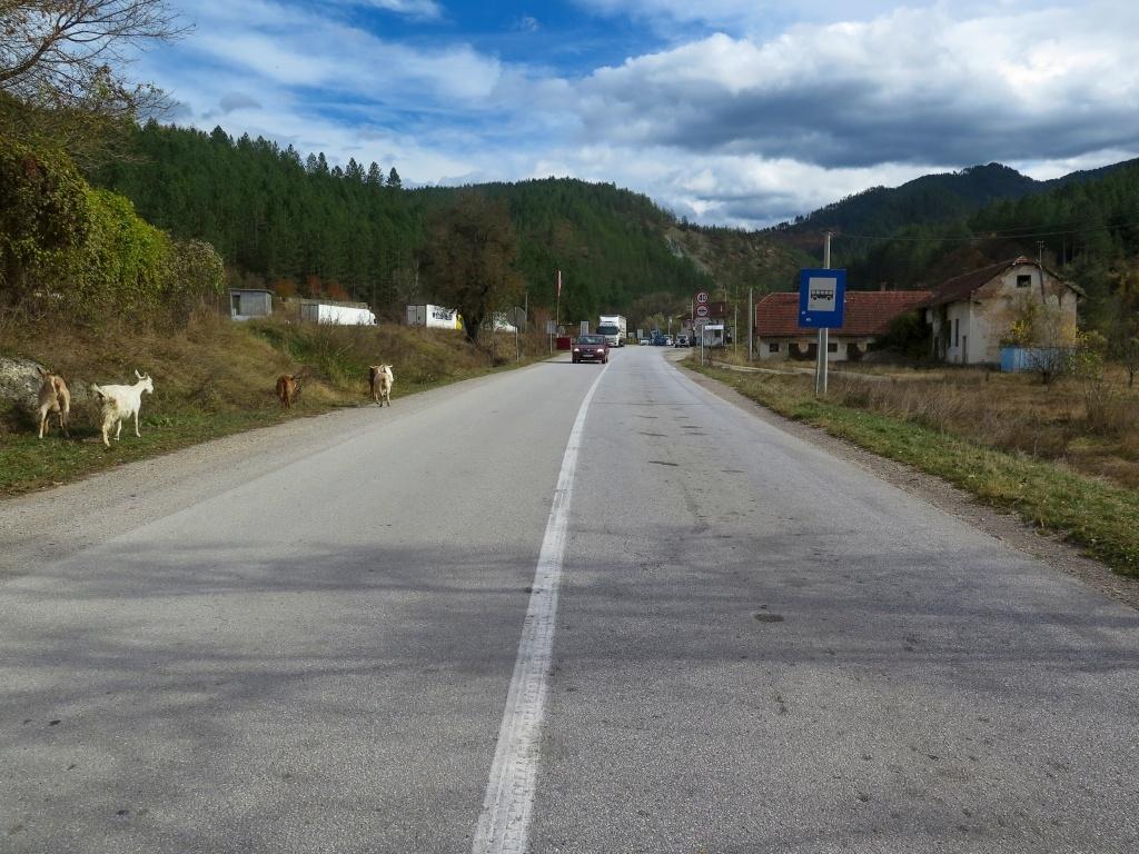 A pak už přejíždíme do Srbska, hranice je stylová :-)