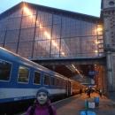 Rychlík Praha - Budapešť právě dorazil na nádraží Keleti. Abychom po městě dlouho netápali, rezervovali jsme si apartmán nedaleko nádraží.