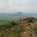 Vyhlídka na Želenický vrch a Zlatník cestou