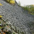 Tenhle Plešivec je zajímavý kamenným čedičovým mořem, které pokrývá část hory