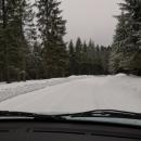 Silnice v Orlických horách v polovině března :-)