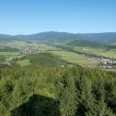 Výhled na údolí Desné, a jesenické vrcholy od Červenohorského sedla po Dlouhé stráně