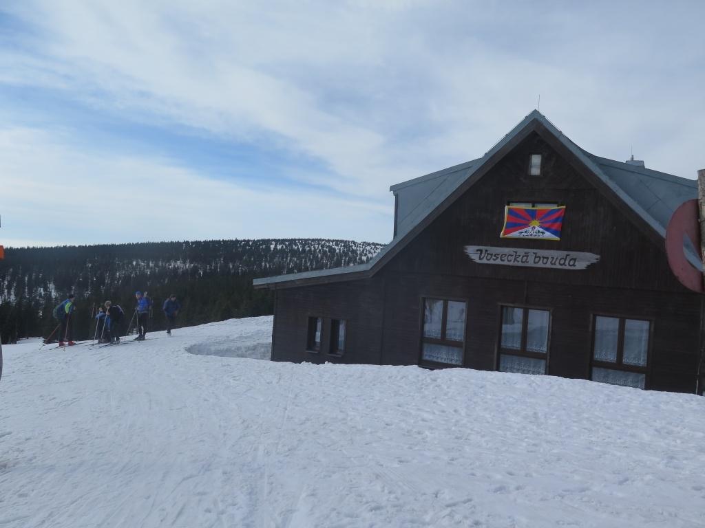 Vosecká bouda - cca 1250 metrů vysoko