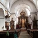 Interiér kostela Nanebevzetí Panny Marie