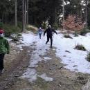 Od cca 900 m n. m. jsme potkávali zbytky sněhu