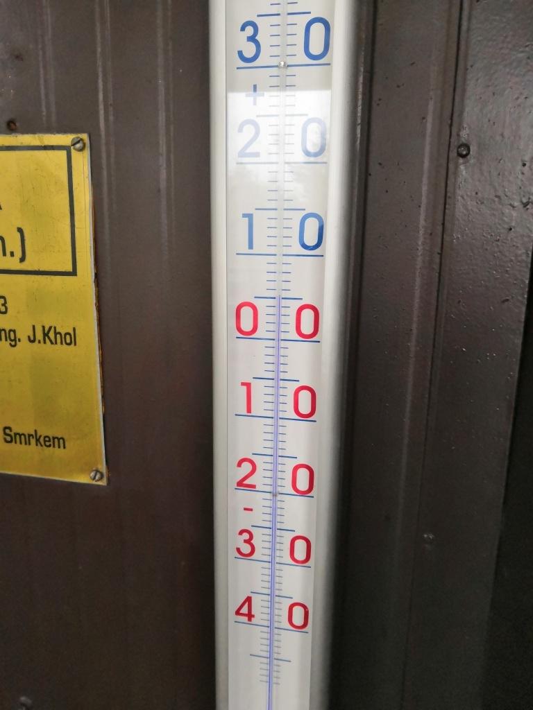 Teplota se držela nad nulou.