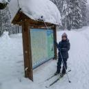 Víťa a vrstva sněhu