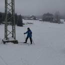 Na loukách u Jizerky, je tu tak do 20 cm sněhu.