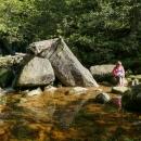 Ovšem nejprve je potřeba osvěžit si nohy v lagunce potoku  Černý Štolpich
