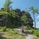 Cestou jsme si odskočili na vyhlídku Paličník, abychom si ještě i dnes užily trochu těch skal, žebříků a vyhlídek
