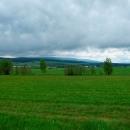 Ohlédnutí směr polské Bystřické hory. Počasí není úplně vábné...