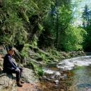 Plačtivá skála nad soutokem řek Zdobnice a Říčky