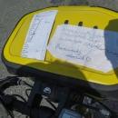 Šárčina příprava na Rumunsko :-) To vlevo je trasa, napravo slovníček. Budeme tady skoro měsíc...