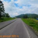 Užocký průsmyk (853 m n.m.) byl posledním kopcem na Ukrajině