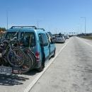 Cesta do Oděsy autem trvala dva dny. Zde čekáme na polsko-ukrajinské hranici.