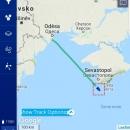 Čekalo nás 40 hodin offline, kamarádi sledovali polohu naší lodi na námořní aplikaci - večer jsme proplouvali kolem Krymu