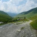 Kamenné věže - typické pro oblast Svanetie.