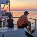 Čtyřicet hodin trvala plavba, odpočívali jsme, kochali se pohledem na zdánlivě nekonečnou modrou hladinu...