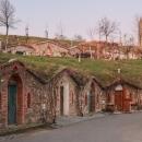 Typické vinařské sklepy ve Vrbici v několika patrech nad sebou