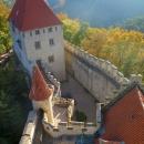 Výhled z 37,5 metrů vysoké hradní věže