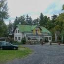 Turistická chata Čertovy kameny. Akorát otevírali, tak jsme si dali ranní kávu.