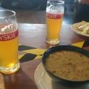 Žurek, palačinky a dvě pivka = naše večeře. Dát si s Janou pivko, to neodolám ani já :-)