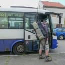 V autobuse z Uherska do Luží jsme cestovali sami