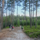 Prošli jsme Borem u Skutče, zavzpomínali na týden, který jsme tady před 12 lety strávili, a po červené zapadli znovu do lesů.