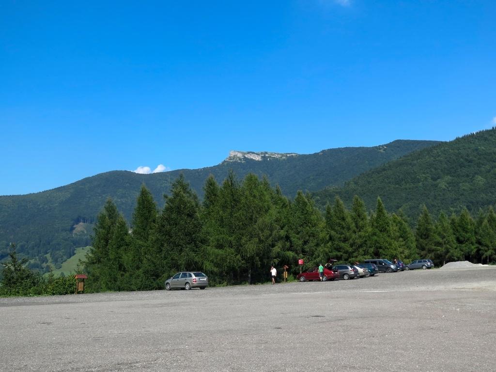 A po jídle nás čekalo přes 550 metrů převýšení na horu Kľak