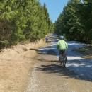 """Při cestě na chatu jsme zahlédli, že na """"magistále"""" od Palaše jsou větší zbytky sněhu. I ptala jsem se cyklistů se silničními koly, jestli náhodou nepřijeli od Petříkova. Prý ano a prý se toho sněhu nemám bát, je to jen krátký úsek."""