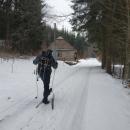 ... lyže nandaváme o pár set metrů dál.