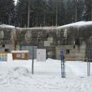 Na Boudě se na podzim začaly stavební úpravy, nyní musely být přerušeny. Zima je tu ještě v plném proudu.