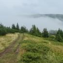 Výhledy opět skoro nulové, Královu hoľu zakrývala hustá oblaka.