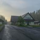 O pár hodin později a o dost kilometrů díky autostopu dál - sedlo Glinka. Akorát tady skončila bouřka