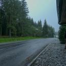 Slejvák v sedle Hliny (804 m). Stopujeme...