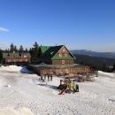 Vyhlídka ze sněžného kopce