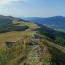 Celá Bukovská polonina z hory Starostyna