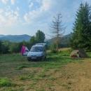 ... a večer jsme byli na tábořišti v Ustrzyki Górne. Vzdálenost vzdušnou čarou asi 20 km, autem přes hraniční přechod Krościenko 150