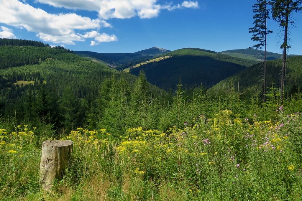Bylo krásné léto a počasí slibovalo nádherné výhledy...
