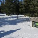 Na hřebeni je ale sněhu víc než metr.