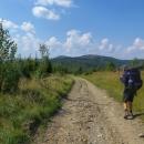Hřebenovka je pohodová, jde se dobře. Kojšovská hoľa (nejvyšší bod této části Volovských vrchů) je už kousek.