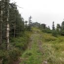 Vrch Skalisko (1293 m), nebo také Volovec. Od snídaně máme v nohách přes 10 kilometrů.
