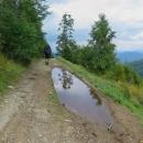 a tím končí naše putování Volovskými vrchy. Ze sedla Volovec jsme sešli po zelené do Henclové a stopli auto do Nálepkova, odkud jsme se další den plánovali přesunout vlakem do Telgártu.