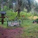 Hrob padlých hrdinov SNP poblíž Faltenova sedla.