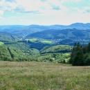 Pohled do údolí po pravé ruce - městečko Dobšiná