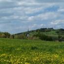 Obec Strážná s horou Lázek (714 m n.m.), což je nejvyšší vrch Zábřežské vrchoviny