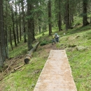 Jedna věc bylo to, že cesta nebyla absolutně sjízdná pro kola (typická horská pěšinka po úbočí, přes kameny, kořeny a sem tam potoky nebo mokřady :-) )...