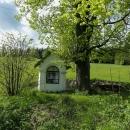 Kaplička nad Lipová-lázně, všude kolem panuje krásná jarní zelená barva. I my stoupáme po zelené :-)