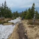 Vzpomínáme na zimu a na běžky, Luděk tady tuhle zimu projížděl a na ledovatém povrchu měl co dělat